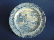 Lovely Spode 'Castle' Pattern Pearlware Dinner Plate c1815 #1